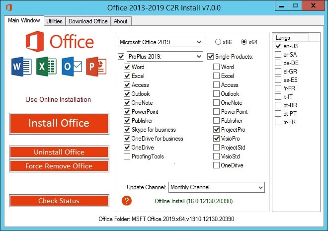 Crack Office 2016 Full Crack Product Key Activator 2021